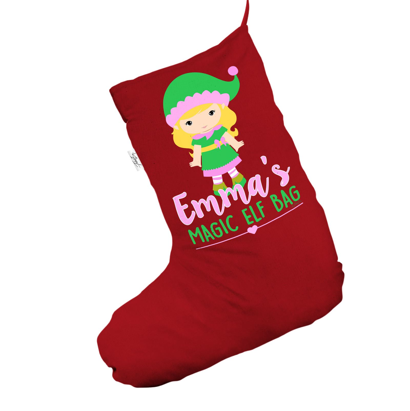 personalised santa christmas stocking magic girl 039 s - Girl Christmas Stocking