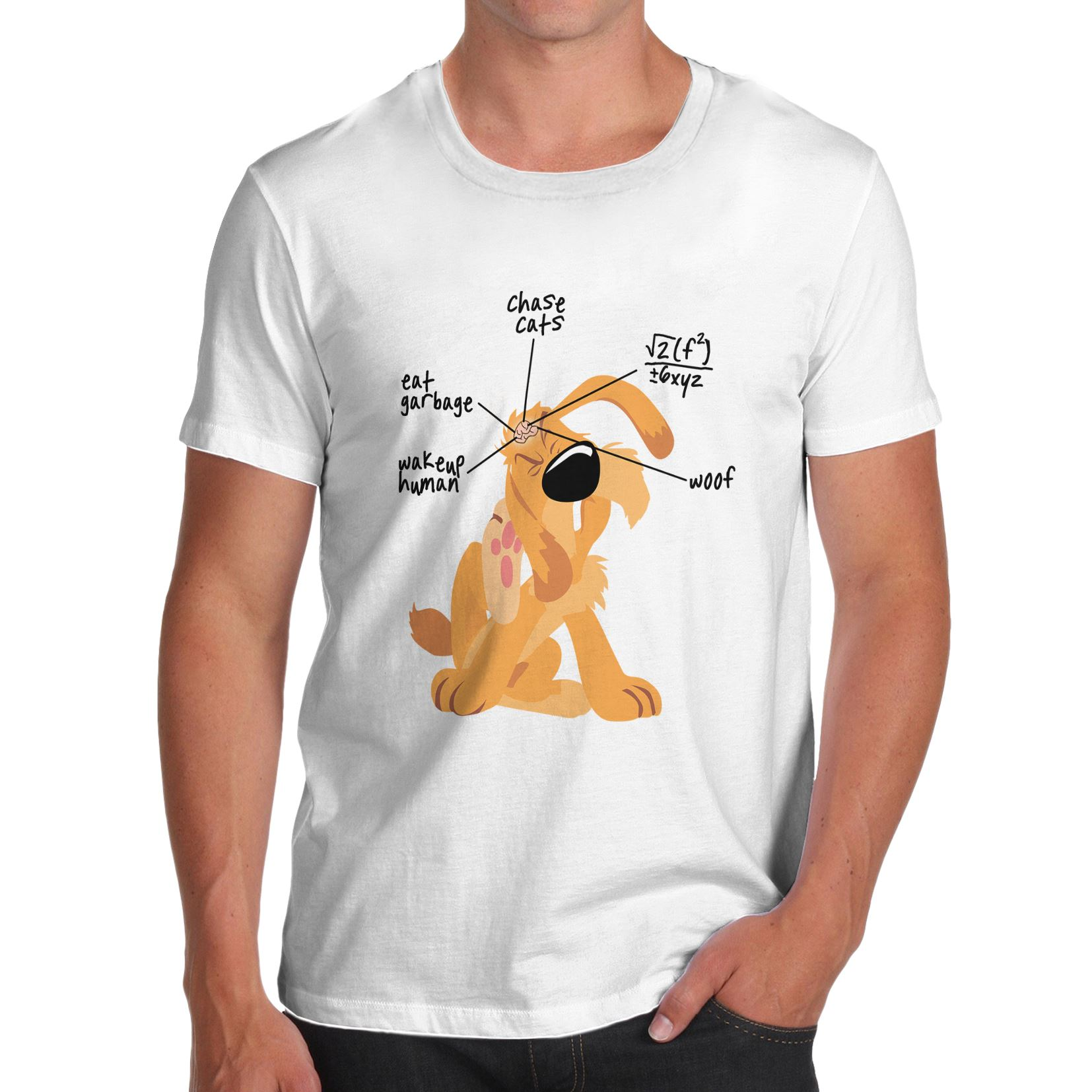 Men\'s Anatomy of a Dogs Brain Funny T-Shirt | eBay