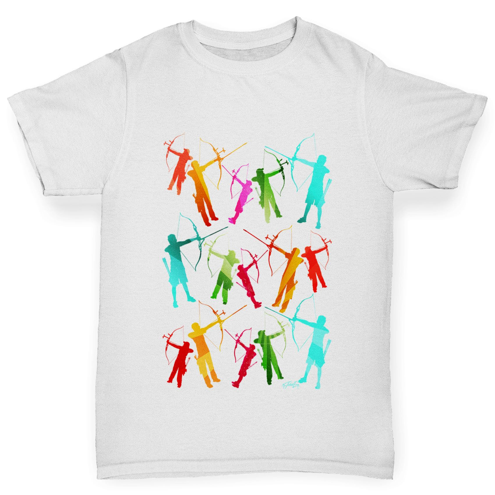 Twisted Envy Girl/'s Archery Rainbow Silhouette T-Shirt