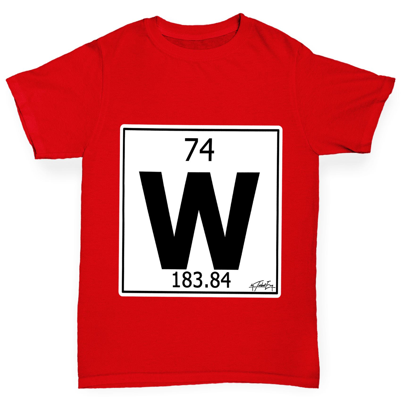 Twisted envy boys periodic table element w tungsten t shirt ebay twisted envy boy 039 s periodic table element urtaz Image collections