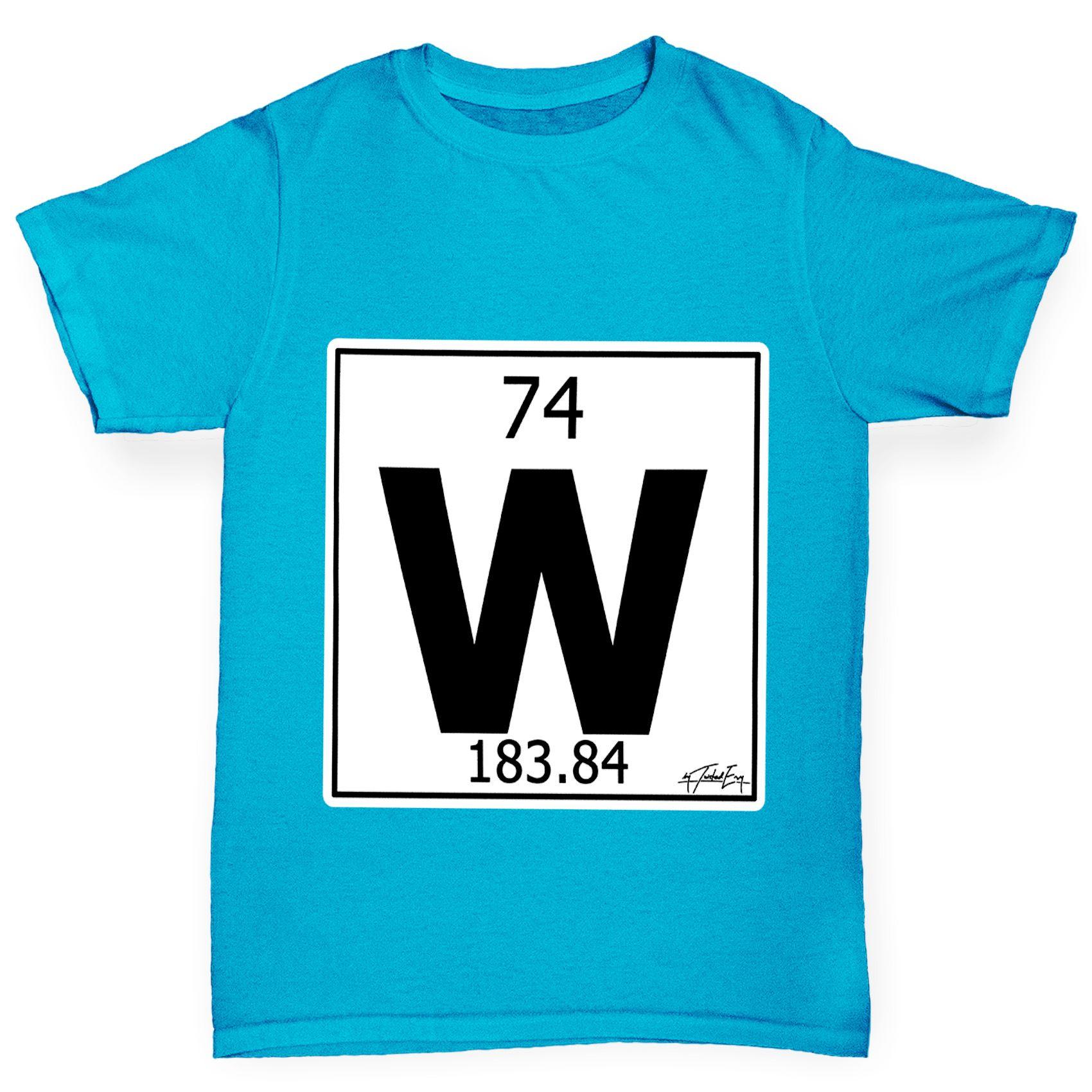 Twisted envy boys periodic table element w tungsten t shirt ebay twisted envy boy 039 s periodic table element urtaz Choice Image