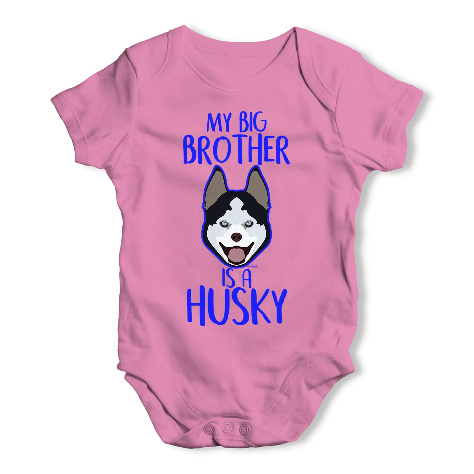 Personalised My Sibling Is A Husky Baby Uni Funny Baby Grow