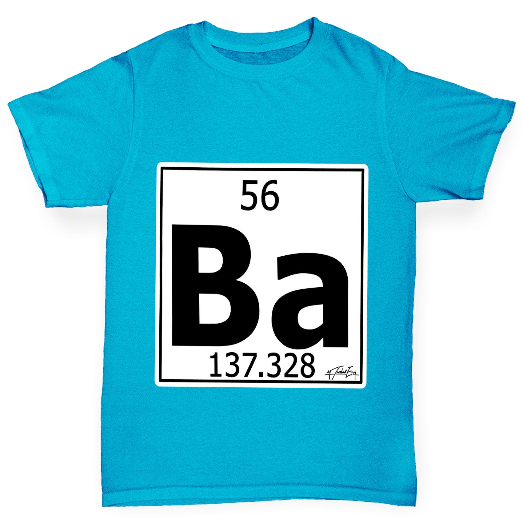 Twisted envy boys periodic table element ba barium t shirt ebay twisted envy boy 039 s periodic table element gamestrikefo Image collections