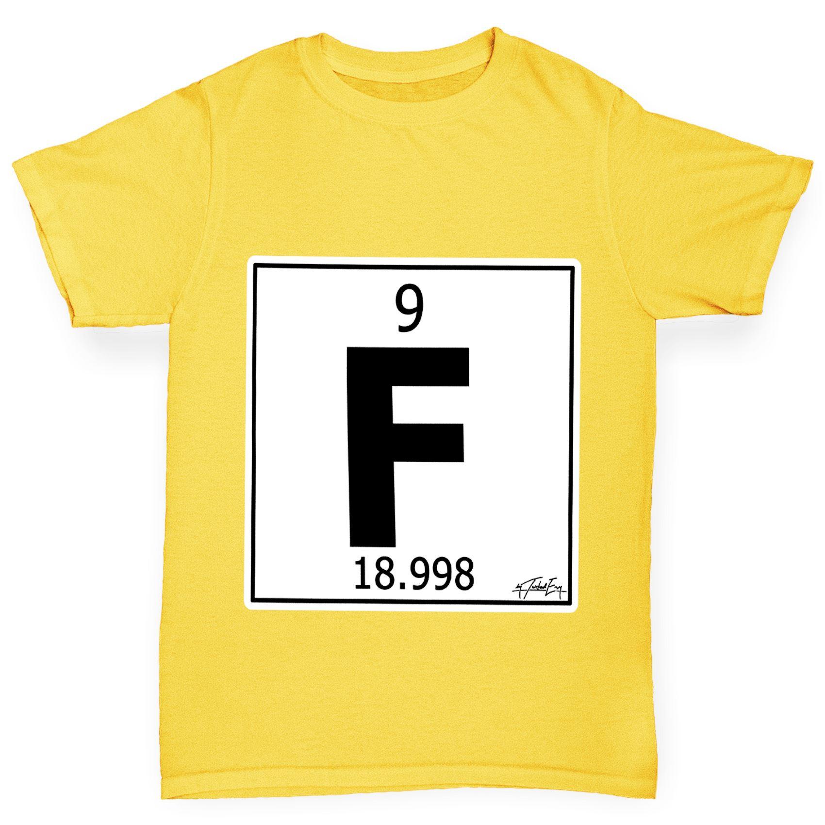 Twisted envy boys periodic table element f fluorine t shirt ebay twisted envy boy 039 s tabla periodica elemento urtaz Gallery