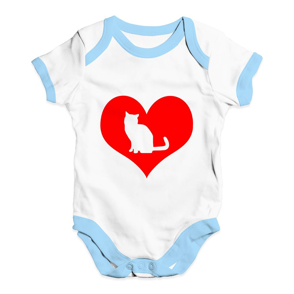 Twisted Envy Cat Heart Baby Unisex Funny Baby Grow Bodysuit