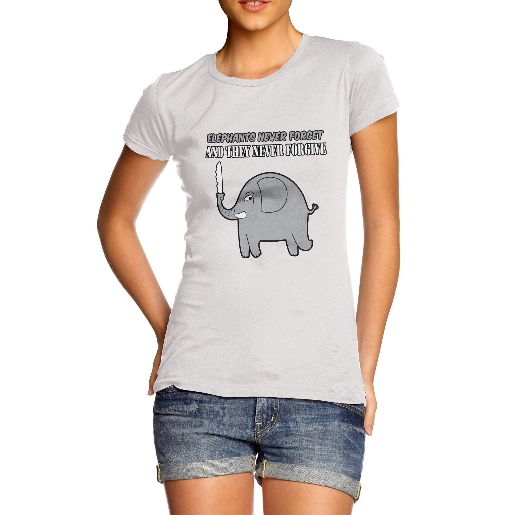 ccb5eed8 Twisted Envy Women's Elephants Never Forget And Never Forgive Funny ...