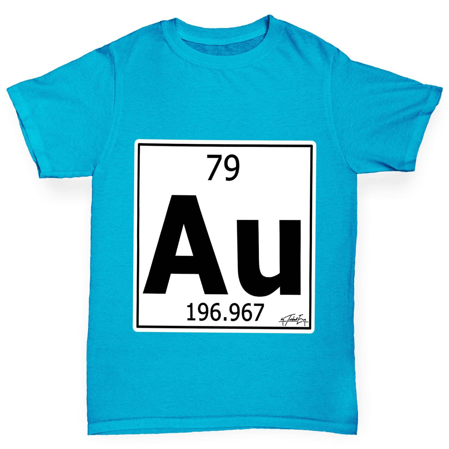 Twisted envy boys periodic table element au gold t shirt ebay image is loading twisted envy boy 039 s periodic table element urtaz Gallery