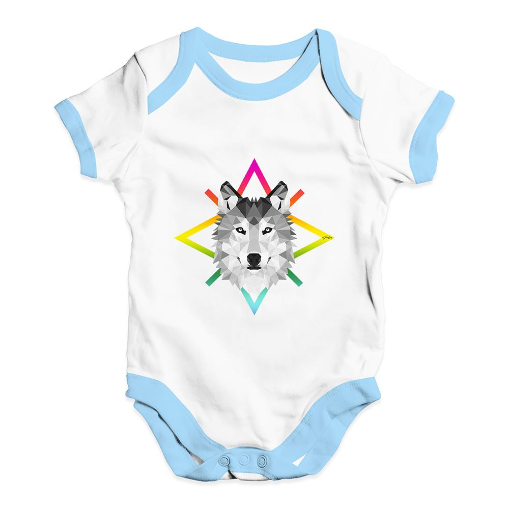Twisted Envy Geometric Wolf Face Baby Unisex Funny Baby Grow Bodysuit