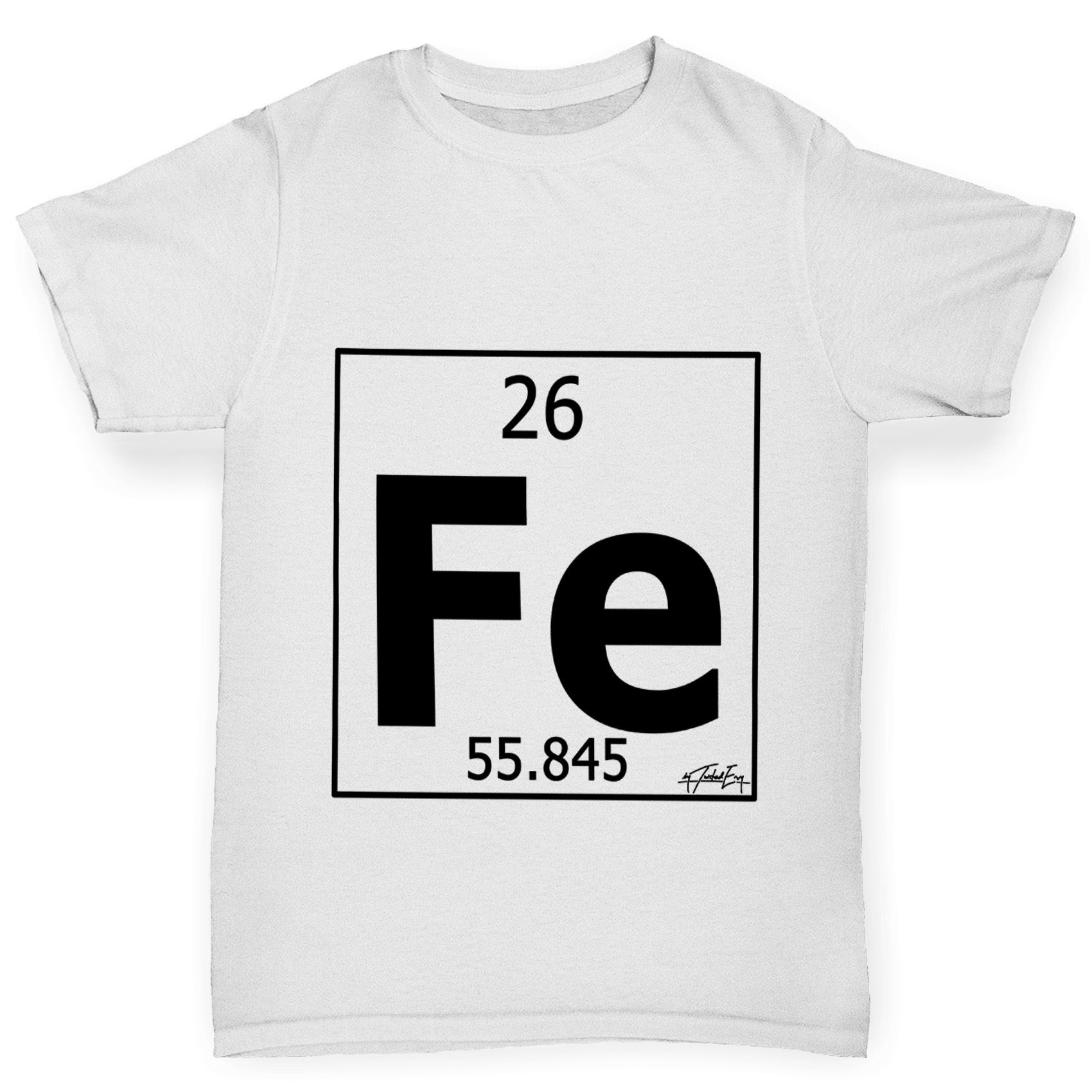 Twisted envy boys periodic table element fe iron t shirt ebay twisted envy boy 039 s periodic table element gamestrikefo Gallery