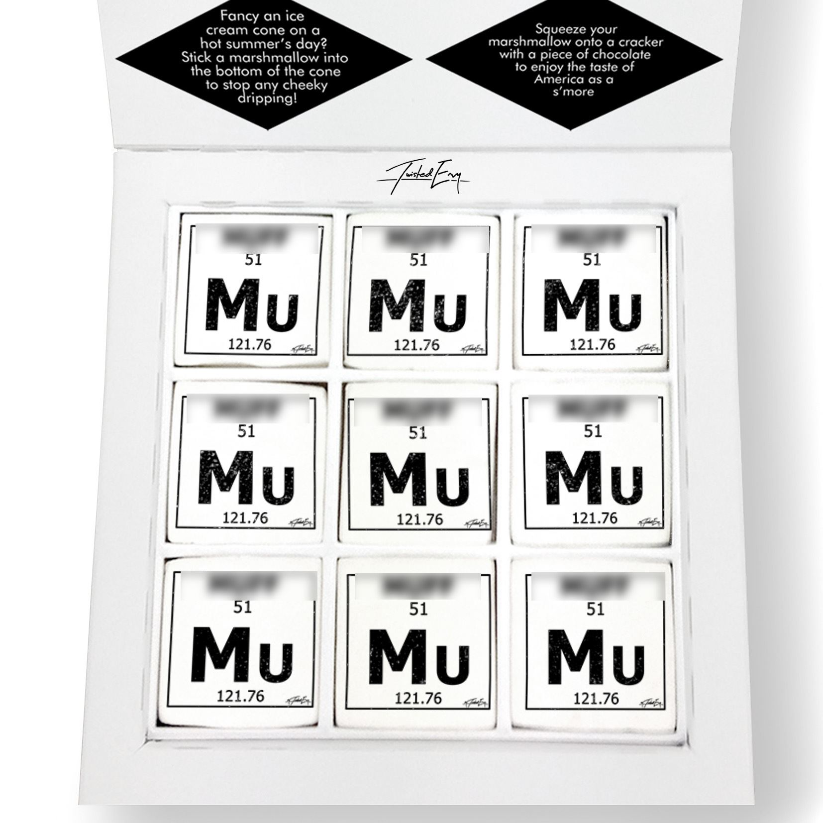 Twisted envy periodic table of swearing mu printed magical periodic table of swearing mu printed marshmallows unique designs make a great gift for everyone say it with shnapz marshmallows designed by humans urtaz Choice Image