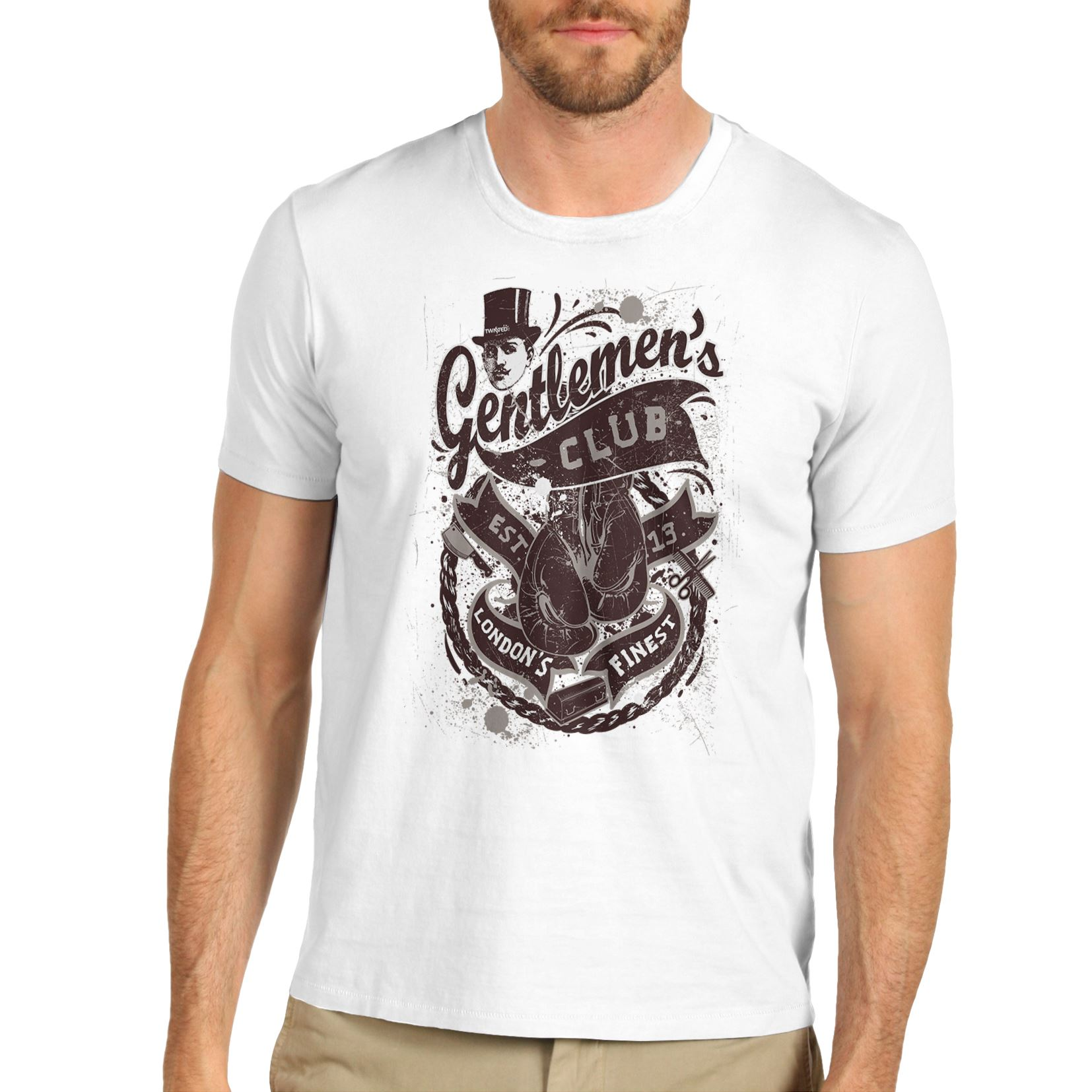 Men/'s Premium Cotton London Gentlemen/'s Club T-Shirt
