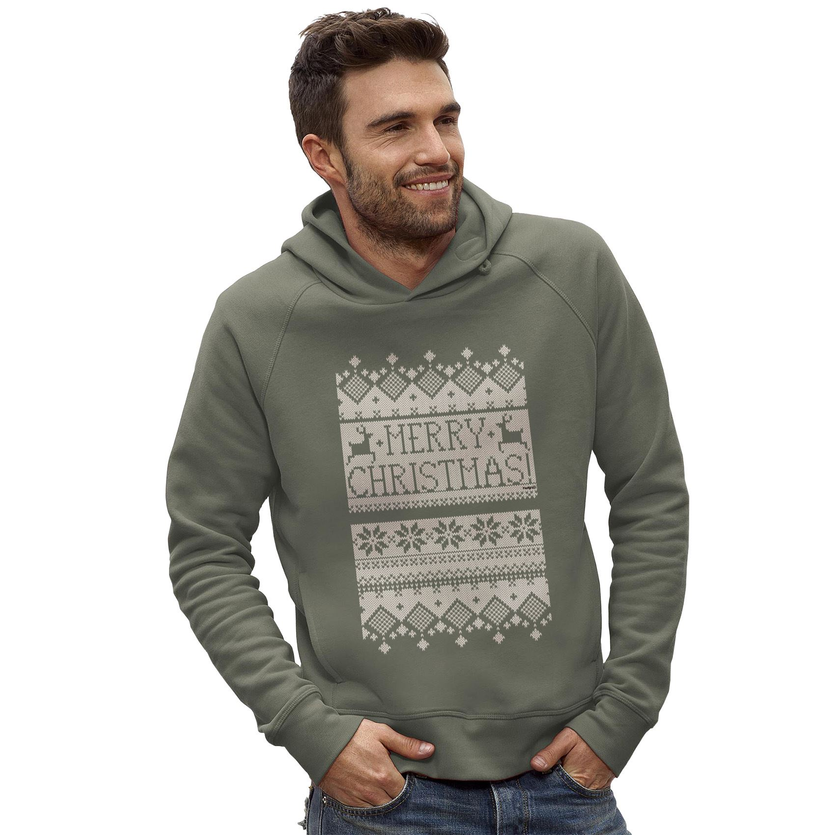 Twisted Envy Mens Merry Christmas Ugly Christmas Sweater Funny