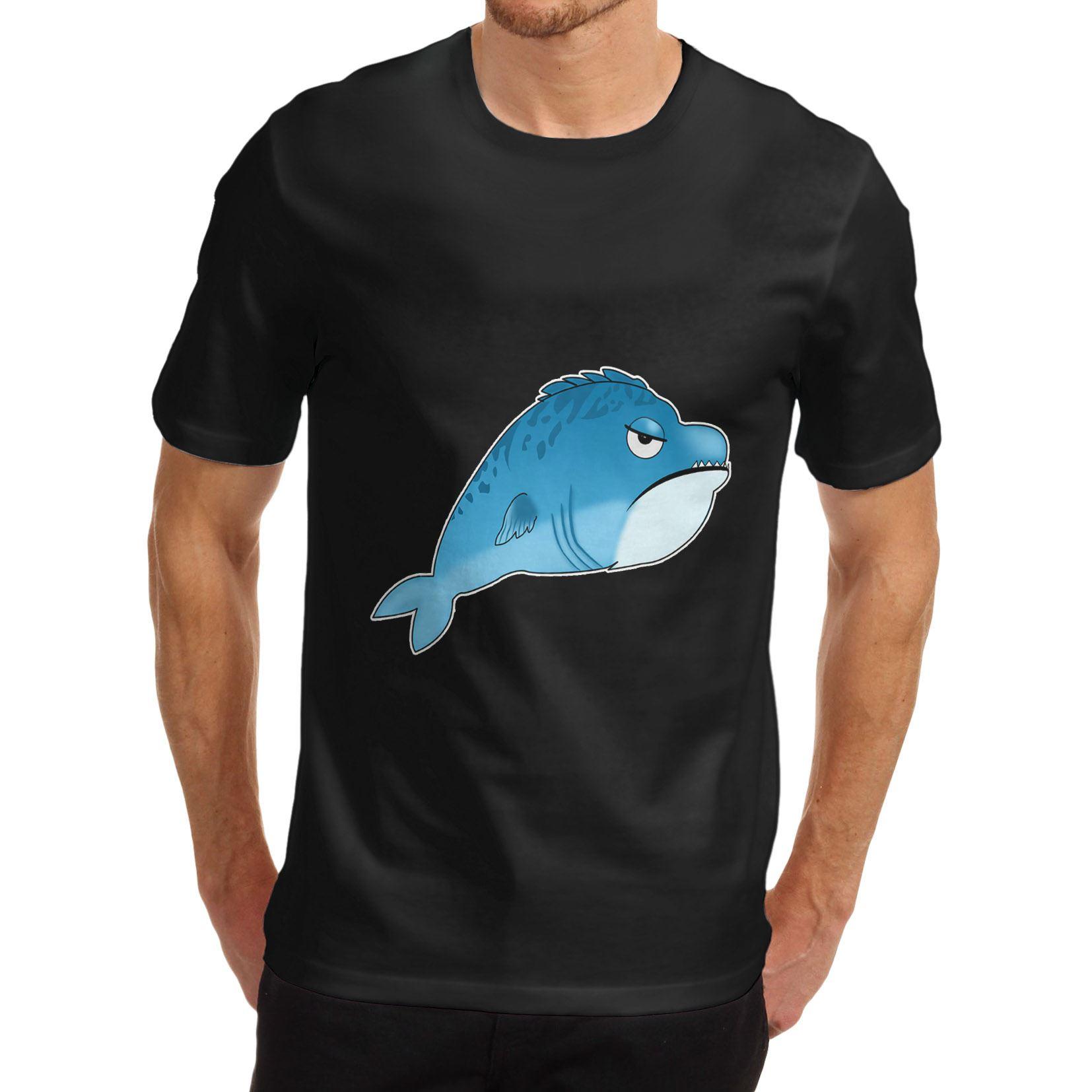 Twisted Envy Men/'s Grumpy Fish Funny T-Shirt