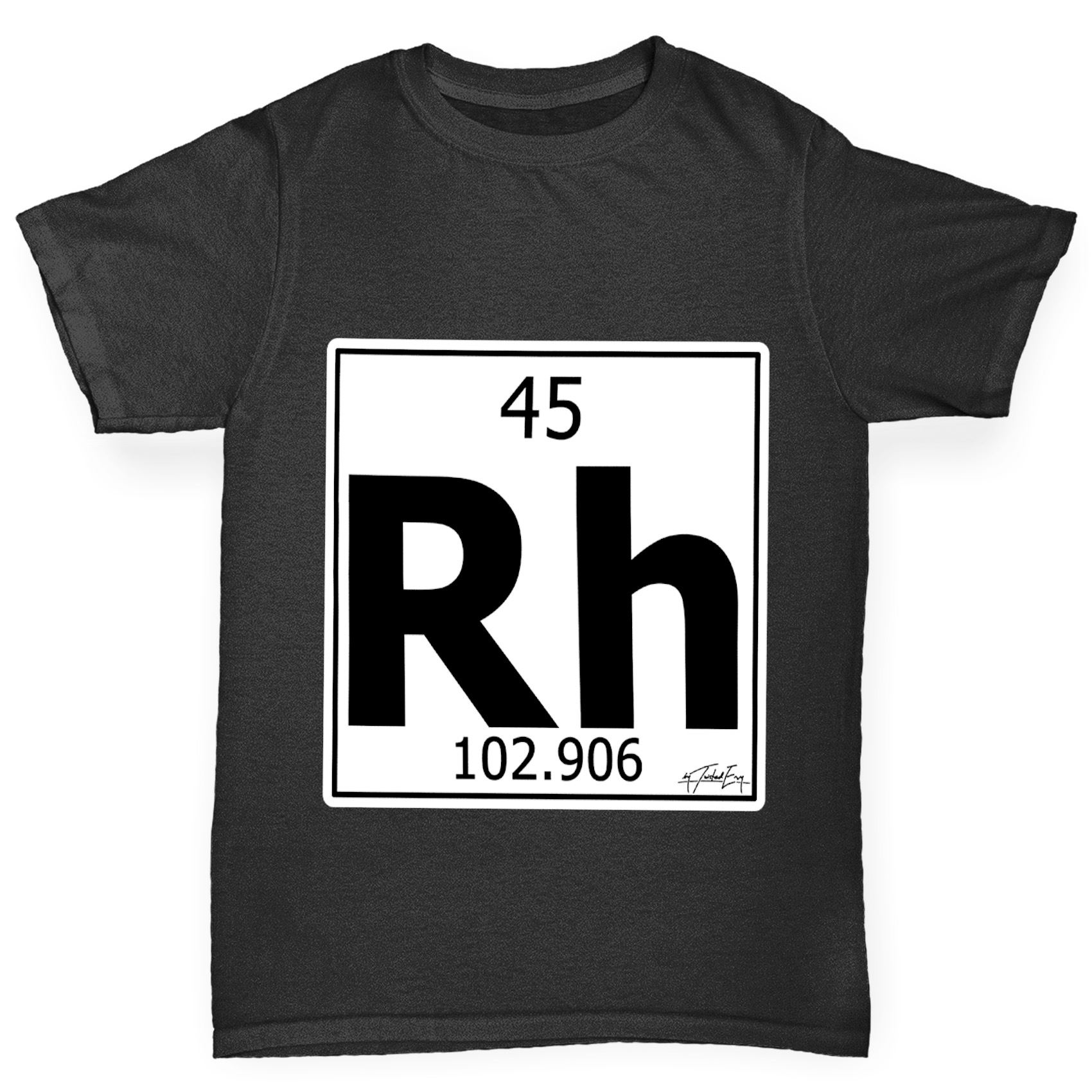 Twisted envy boys periodic table element rh rhodium t shirt ebay twisted envy boy 039 s periodic table element gamestrikefo Images