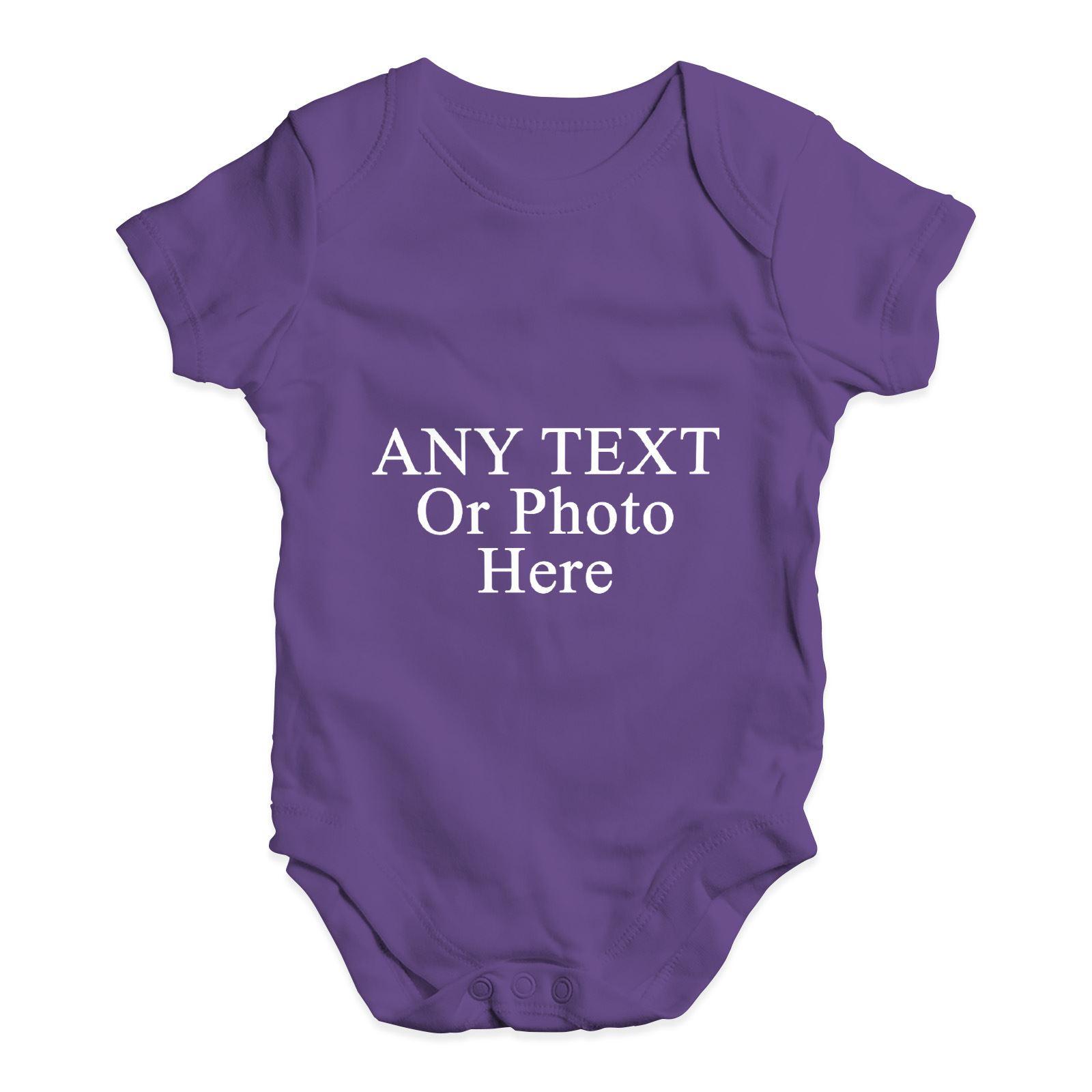 Personalised-Design-Your-Own-Wording-Photo-Baby-Unisex-Funny-Baby-Grow-Bodysuit