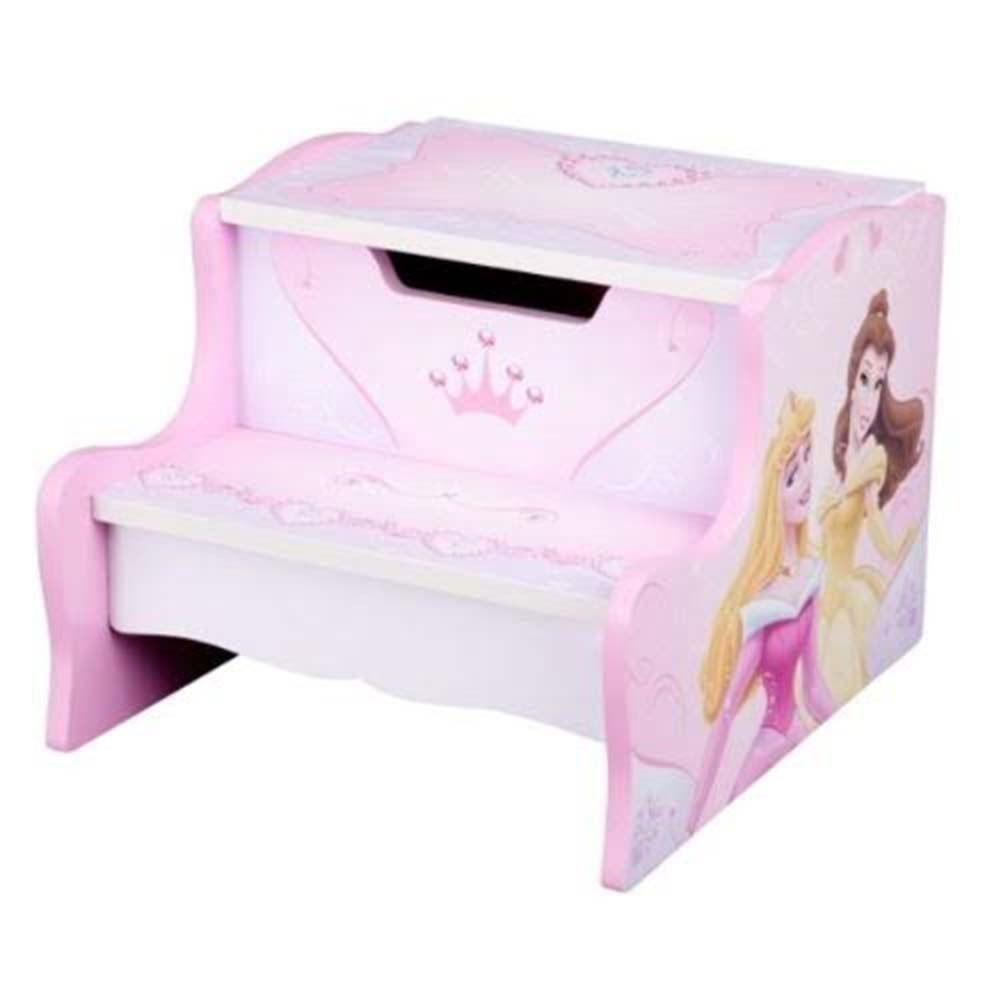 Disney Princess Childrens Girls Step Stool Storage Pink Ebay
