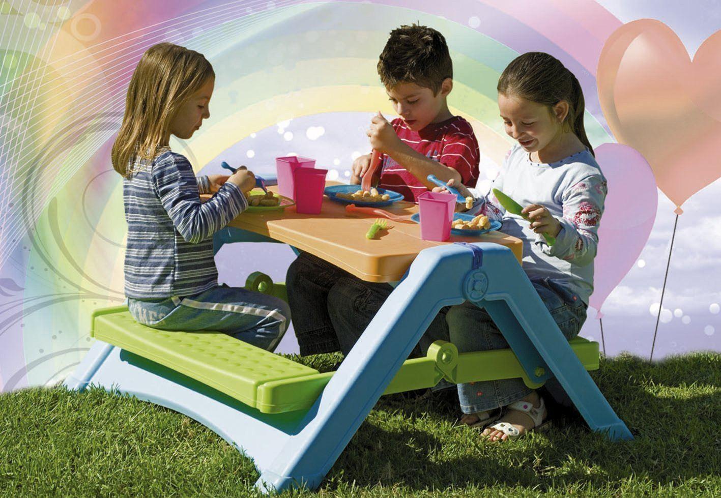 Kids Picnic Camping Outdoor Bench Garden Furniture Indoor