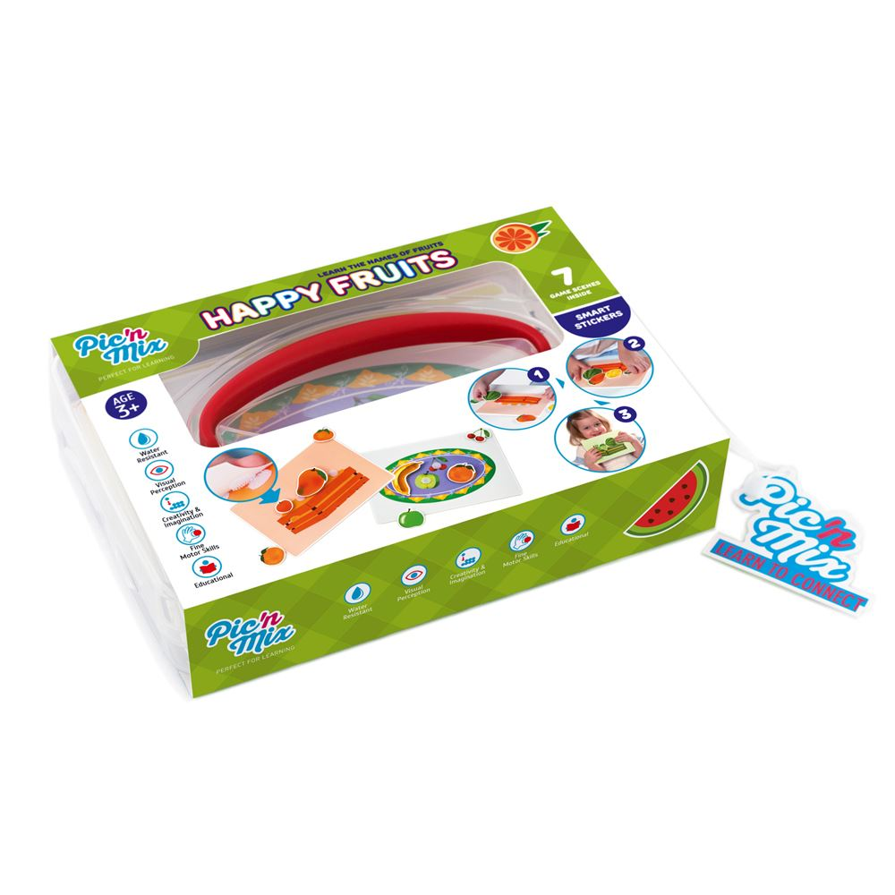 Picnmix Happy Fruits Educational Game and Learning Puzzle Toy for 3 ...