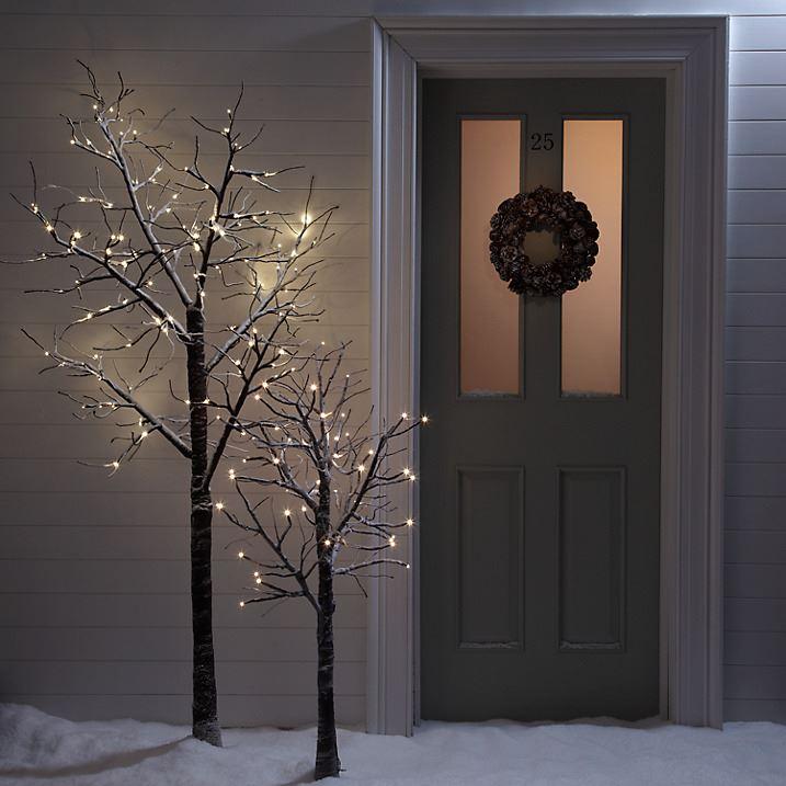 7ft snowy effect warm white twig tree pre lit 120 led xmas lights 7ft snowy effect warm white twig tree pre aloadofball Gallery