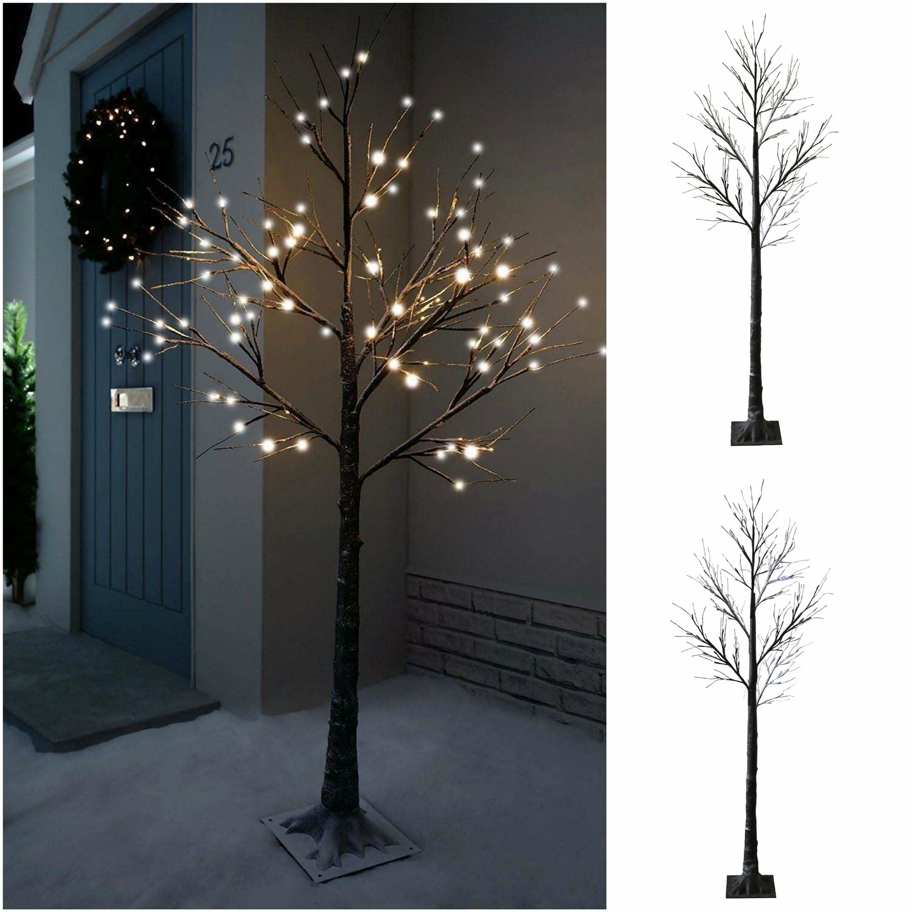 7ft snowy effect cool white twig tree pre lit 120 led xmas lights 7ft snowy effect cool white twig tree pre lit 120 led xmas lights indoor outdoor aloadofball Gallery