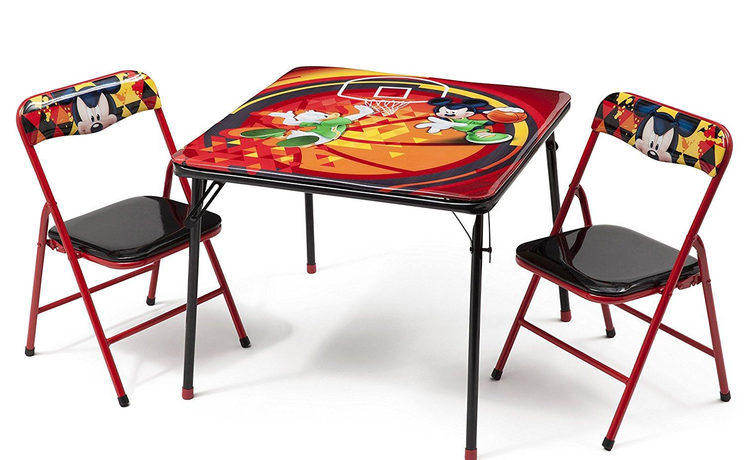 Disney Mickey Mouse Childrens Metal Table Amp Two Chairs Set
