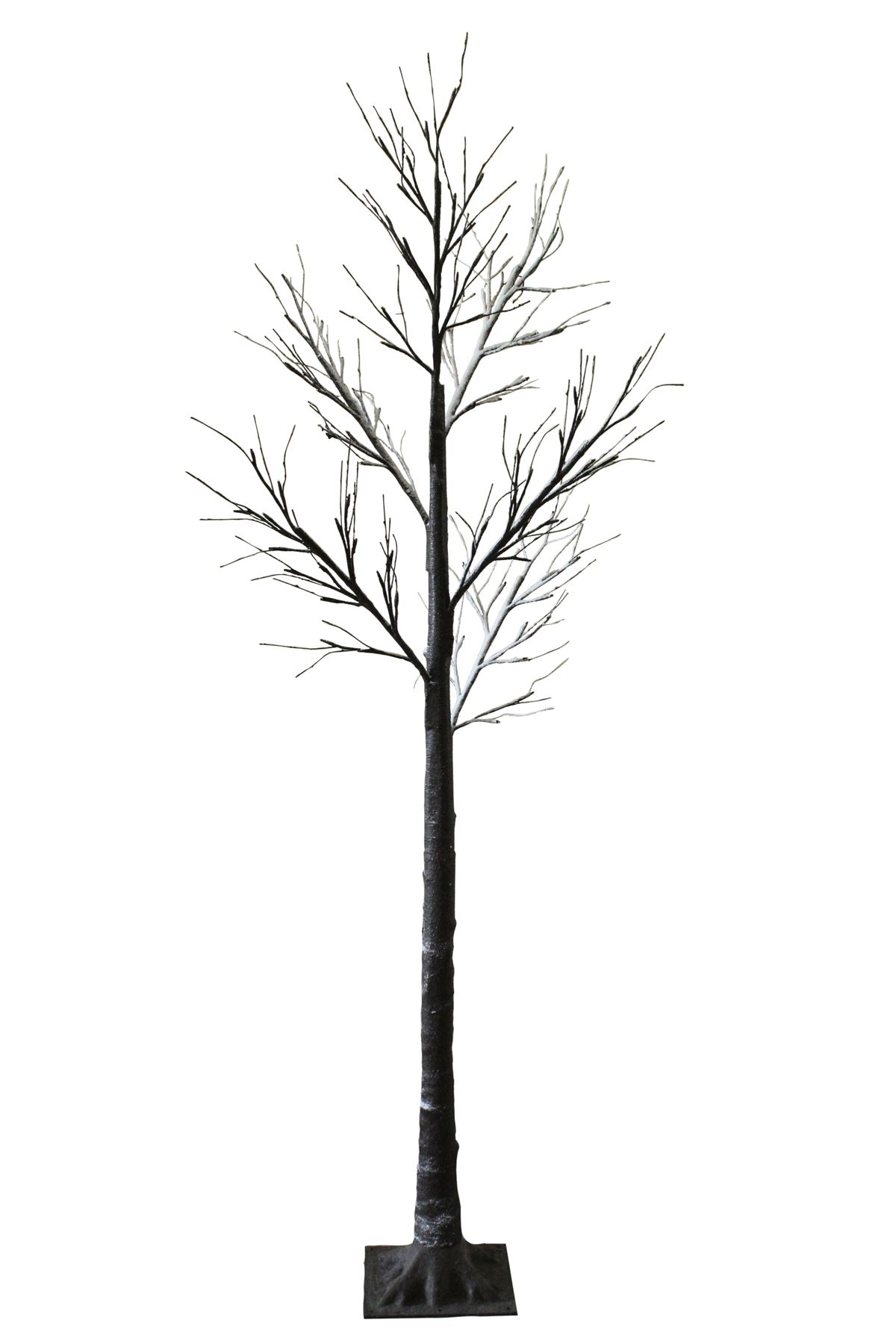 7ft Snowy Effect Cool White Twig Tree Pre Lit 120 Led Xmas