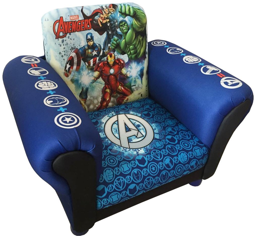 Marvel Avengers Childrens Kids Armchair Upholstered Seat Sofa Chair Couch