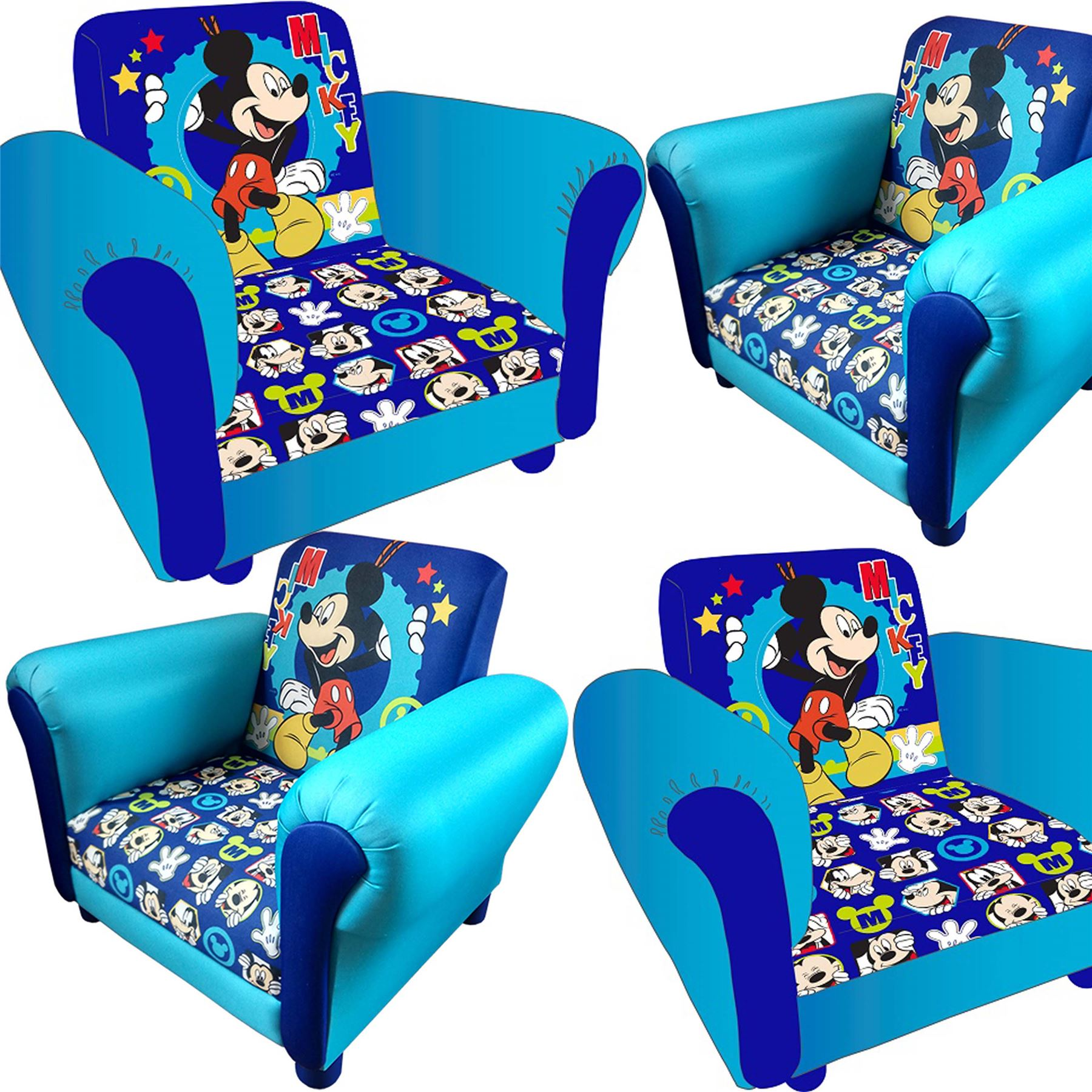 Image Is Loading Childrens Mickey Mouse Cartoon Kids Armchair Childs  Upholstered