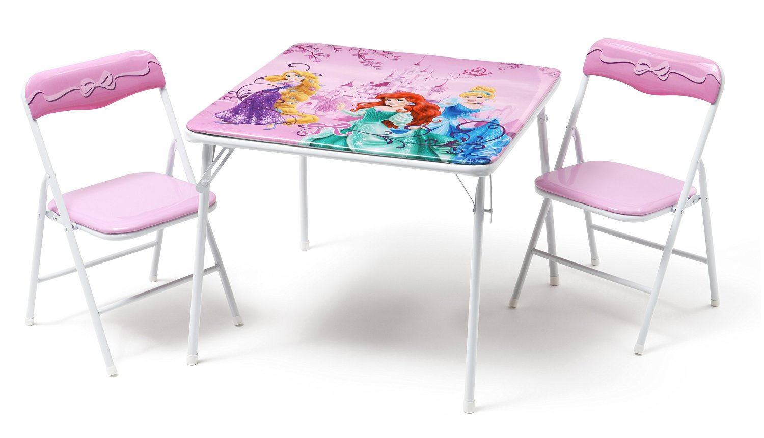 Disney Princess Childrens Metal Table And Two Chairs Set Kids Bedroom Playroom 5060451390650 Ebay