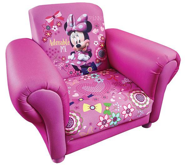 Disney Childrens Minnie Mouse Cartoon Kids Armchair Upholstered