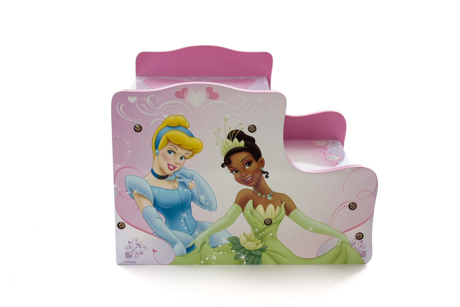 Disney Princess Childrens Girls Step Kids Wooden Storage