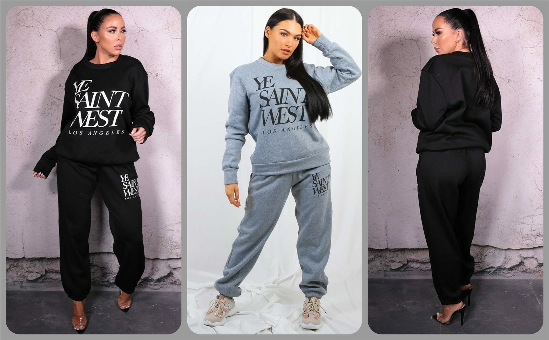 Ladies Womens Chunky Knitted High Roll Neck Top Bottom Lounge Wear Tracksuit Set