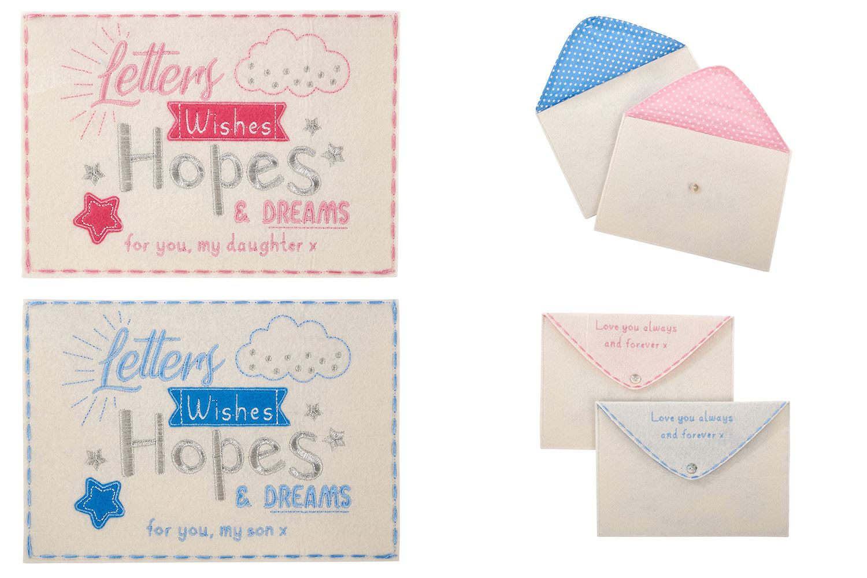 "Box Frame Decoration Hopes /& Wishes on /""Name/"" Christening Christening Sticker"