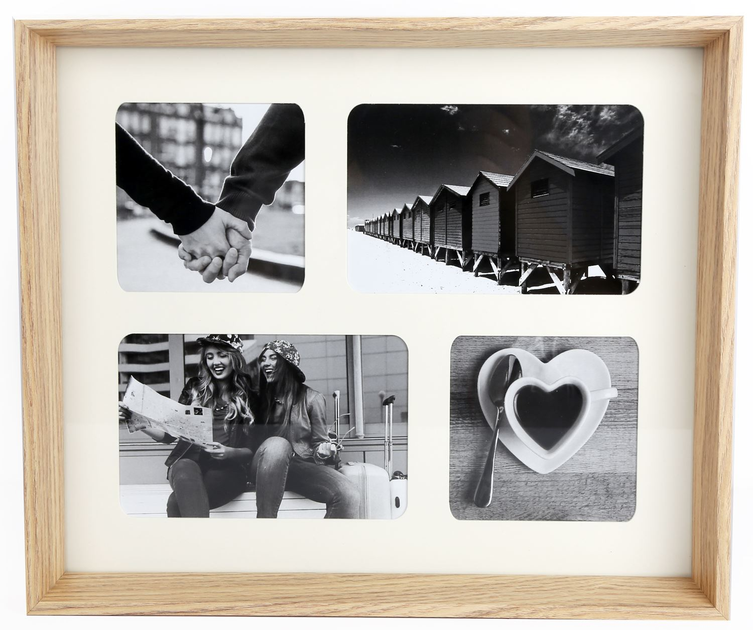 Wooden Box Style 4 Aperture Multi Montage Photo Frame 5024418128694 ...