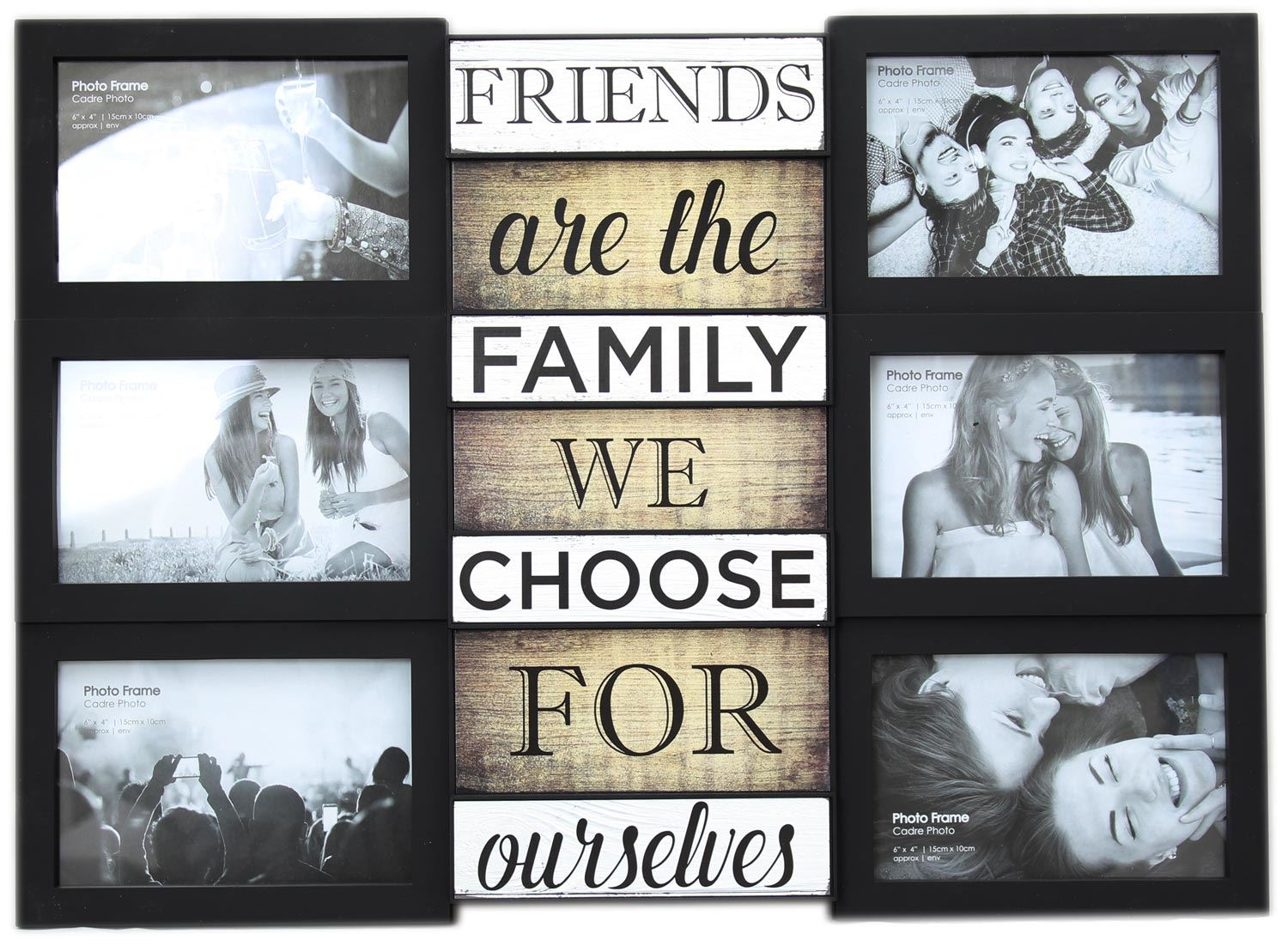 Wall Hanging Black Multiframe Collage Picture Quote Photo Frame