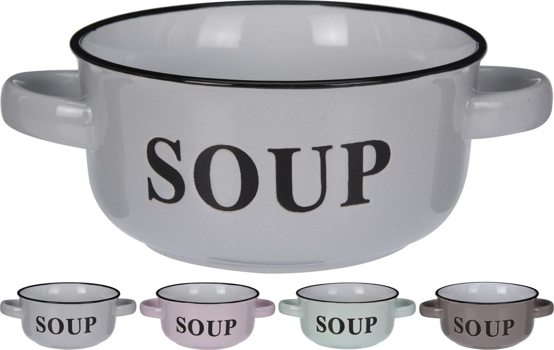 Daddy Bear Ceramic Stoneware Porridge Bowl With Lid And Stirring Spoon ~ Slate