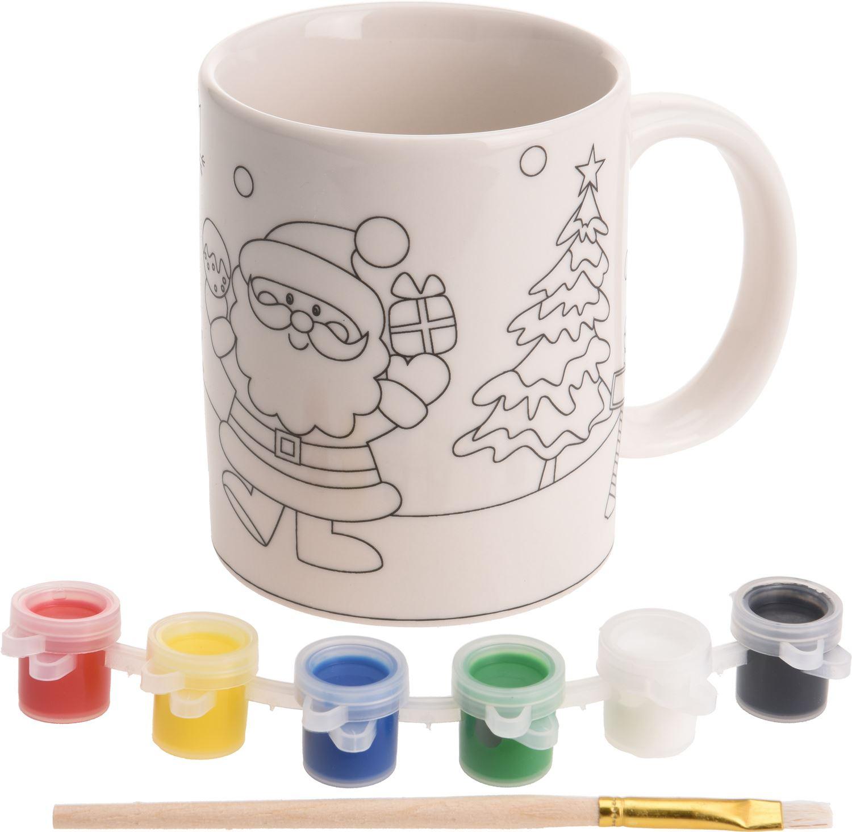Paint Your Own Christmas Mug Xmas Craft Activity Kit Design May