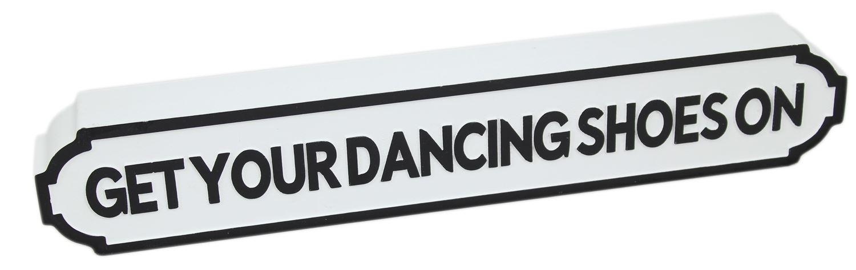 Vintage Wooden Retro Street Music Word Art Sign Get Your Dancing
