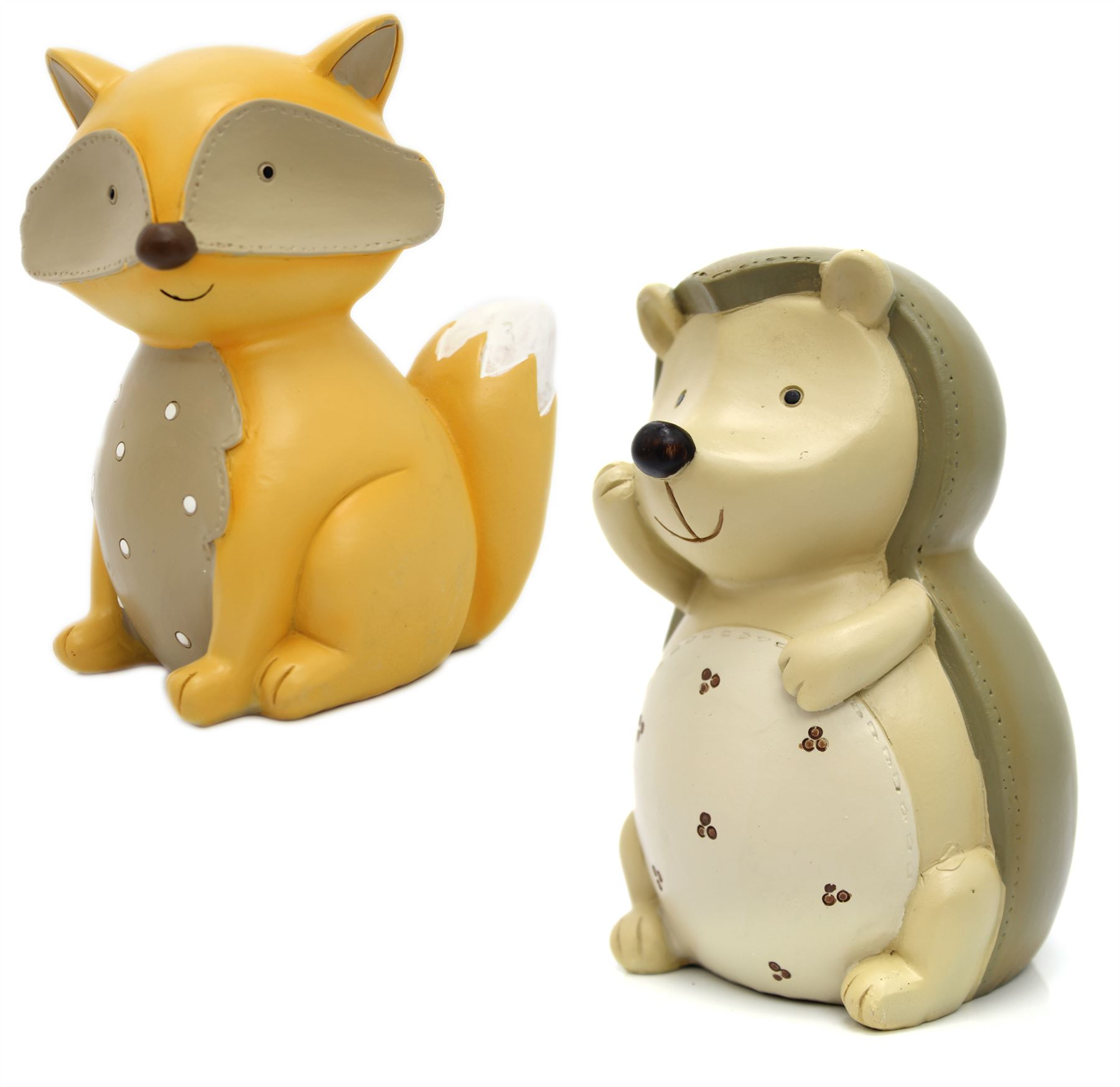 Adorable Children S Ceramic Novelty Money Box Forest Animal Piggy Bank Ebay