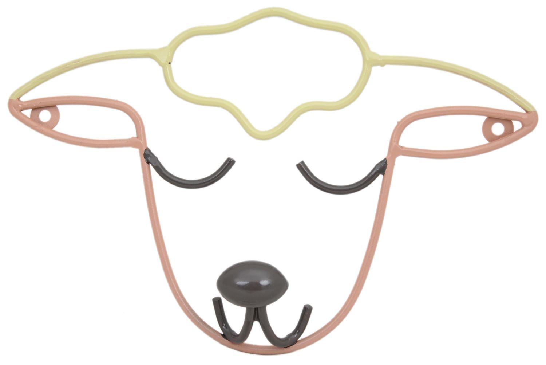 Lamb Sheep Head Metal Wire Plaque Coat Hook Hanger 5055034757418   eBay