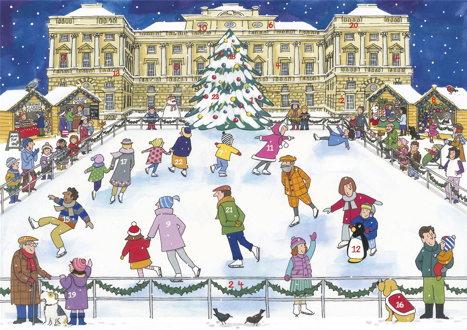 Alison Gardiner Traditional Card Advent Calendar Large - Christmas ...
