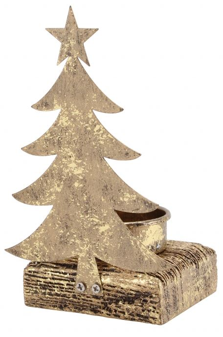 Silver Tea Light Holder Christmas Candle Decoration ~ Christmas Tree Tealight
