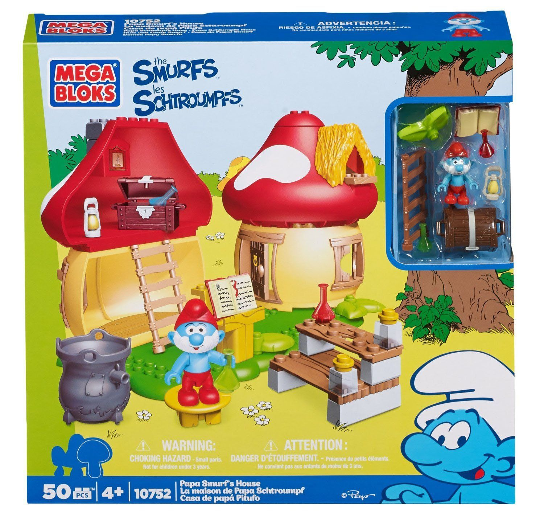 Megabloks 10752 Smurfs Building Playset ~ Papa Smurfs House