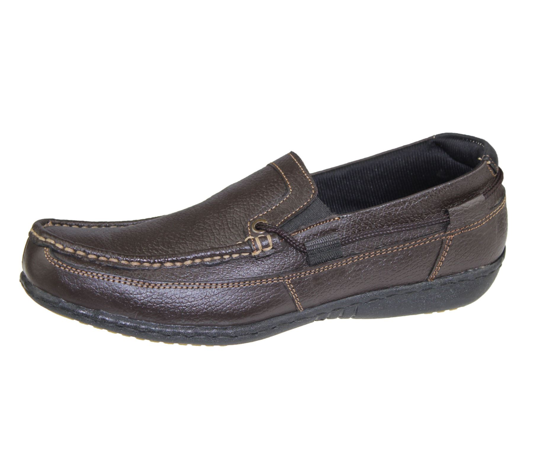 Mens Slip On Shoes Casual Moccasins Loafer Walking Comfort Wedding D Island England Suede Brown