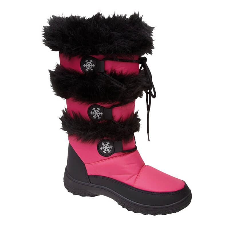 1b22cd0ef58 Women And Girls Snow Boots Ladies Winter Warm Fur Lined Flat Shoes ...