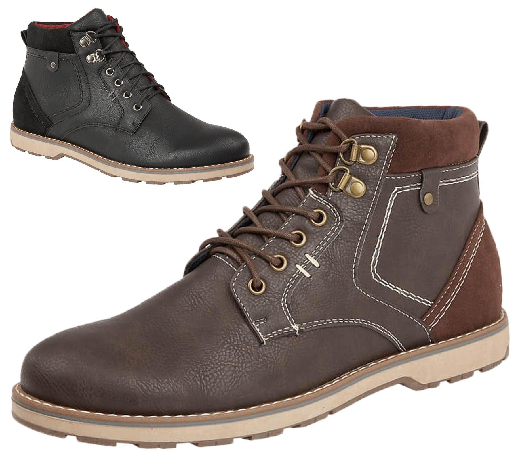 """1//6 braun Gummi gemacht Leder Schuhe Ankle Boots für 12 /""""männliche"""