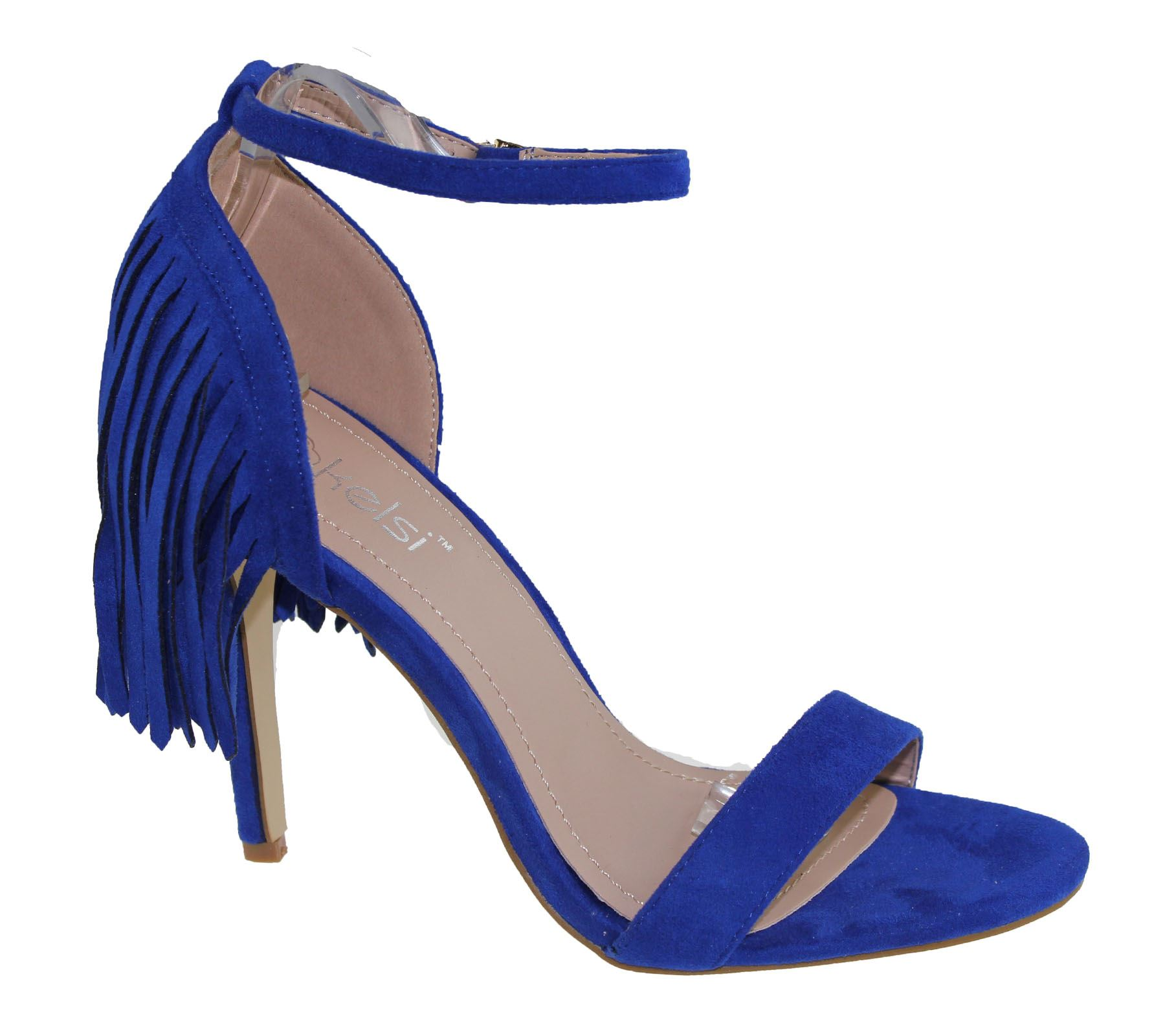 Womens Sandals Stiletto High Heel Tassel Ladies Open Toe Summer ... 528e526d7e6