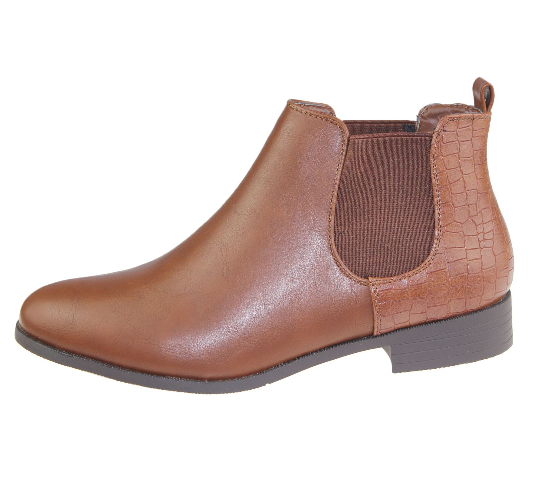 Womens-Ankle-Boots-Ladies-Chelsea-High-Top-Casual-Riding-Elasticated-Shoes-Size thumbnail 3