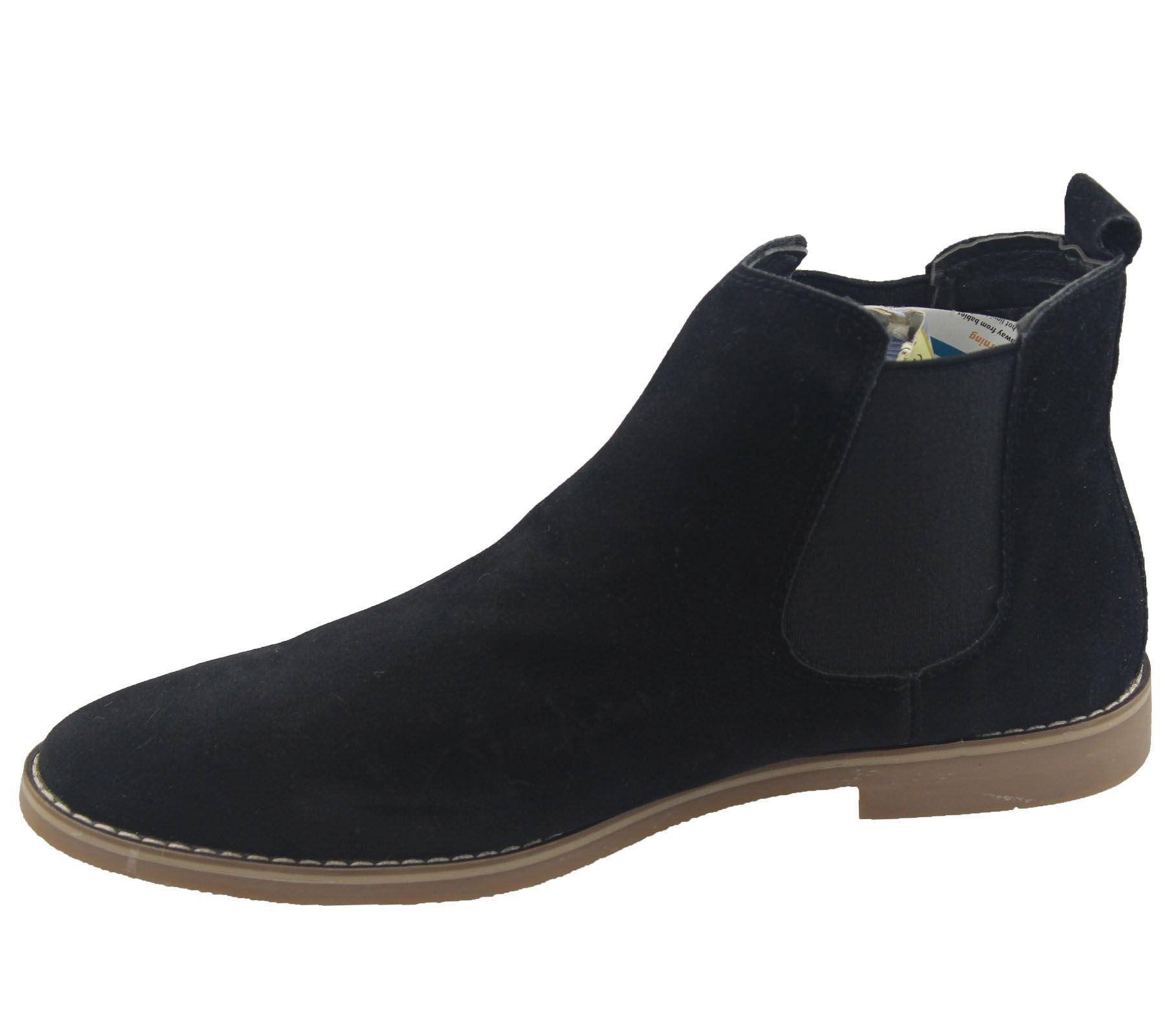 Vestido-Casual-Botas-para-Hombre-Chelsea-Ante-De-Imitacion-de-oficina-zapatos-de-Desierto-Tobillo