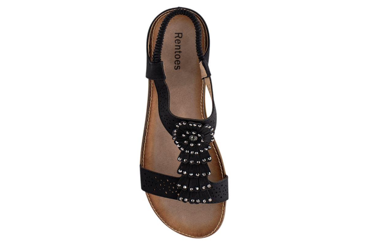 Ladies-Sandals-Womens-Shiny-Flat-Flip-Flop-Beach-Sliders miniatura 35